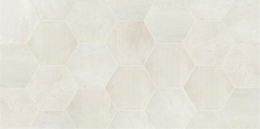 Hexagone white 34x41 carrelages de ravel for Carrelage de ravel