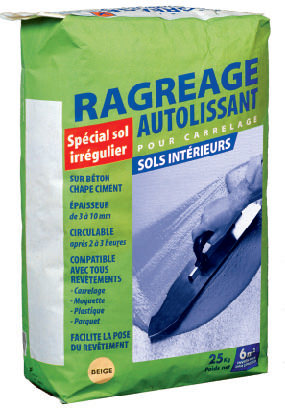Ragr age autolissant carrelages de ravel for Ragreage autolissant sur carrelage